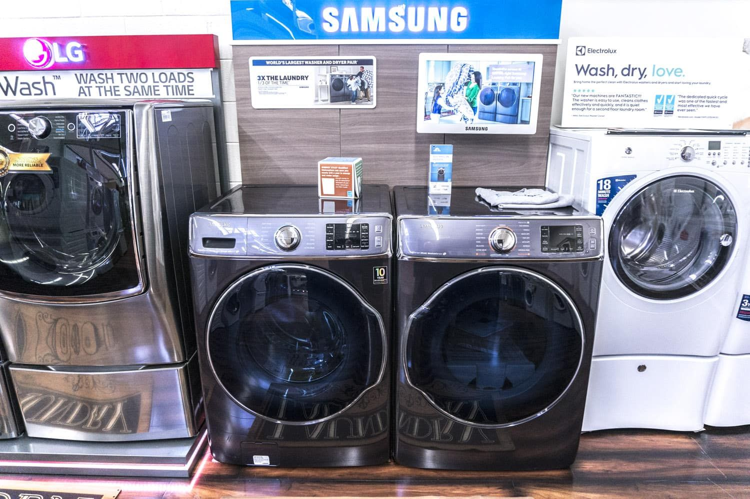 Samsung Washer Dryer At Boston Appliance Our New Showroom In