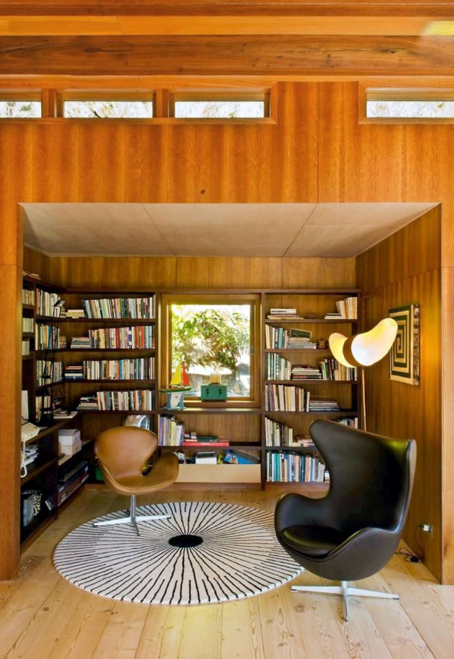 Nz Study Room: Surround Yourself With Books. Located In Waterfall Bay