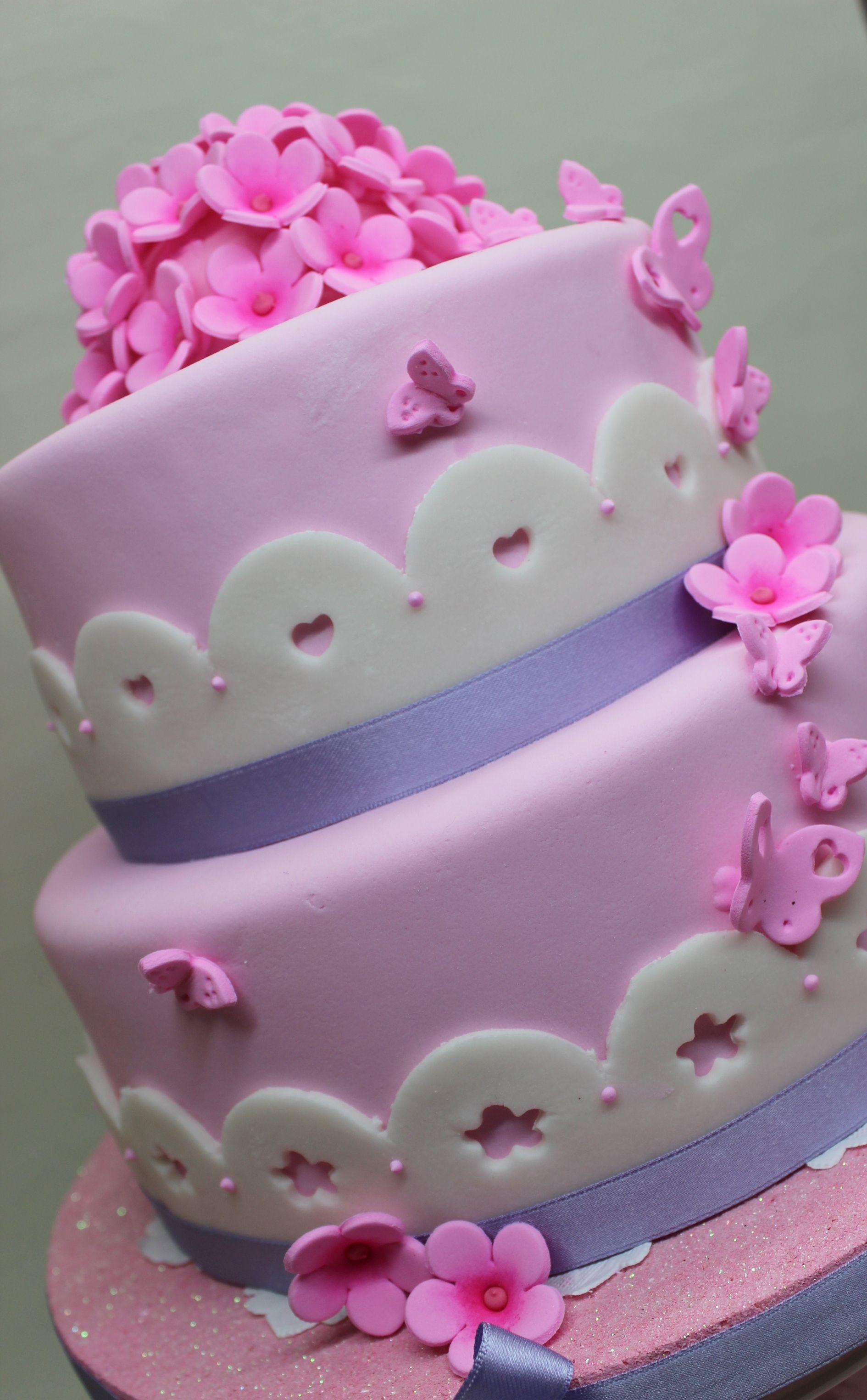 Pink Flower Cake By Violeta Glace Pinterest Cake