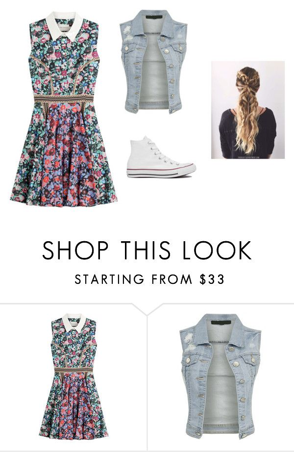 """""""Flower Girl"""" by salivalopez ❤ liked on Polyvore featuring Mary Katrantzou and Converse"""