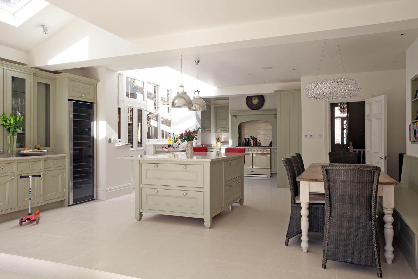 Hand painted inframe kitchen West London Kitchen