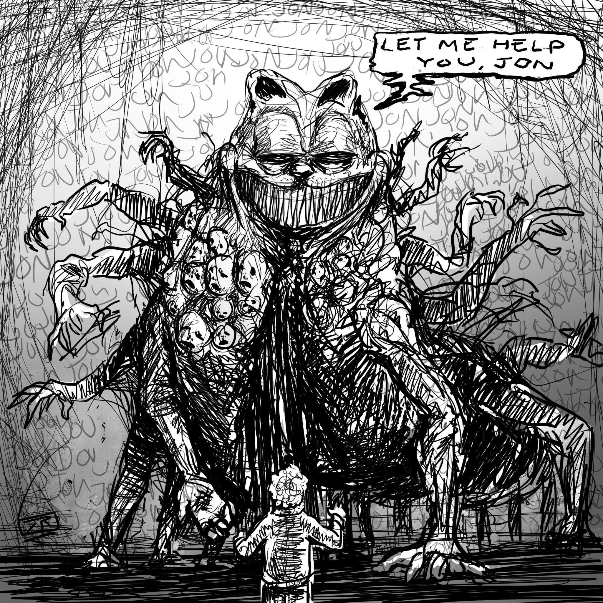 Give Me Your Hand By Rojom Creepy Garfield In 2020 Scary Art Creepy Art Lovecraftian Horror