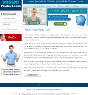 Payday loans money pig picture 6