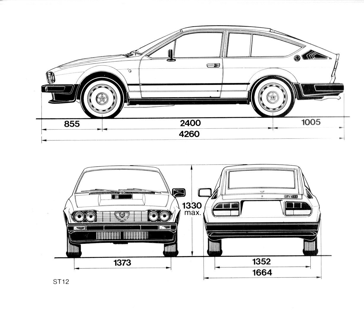 Alfa Romeo GTV6 blueprint