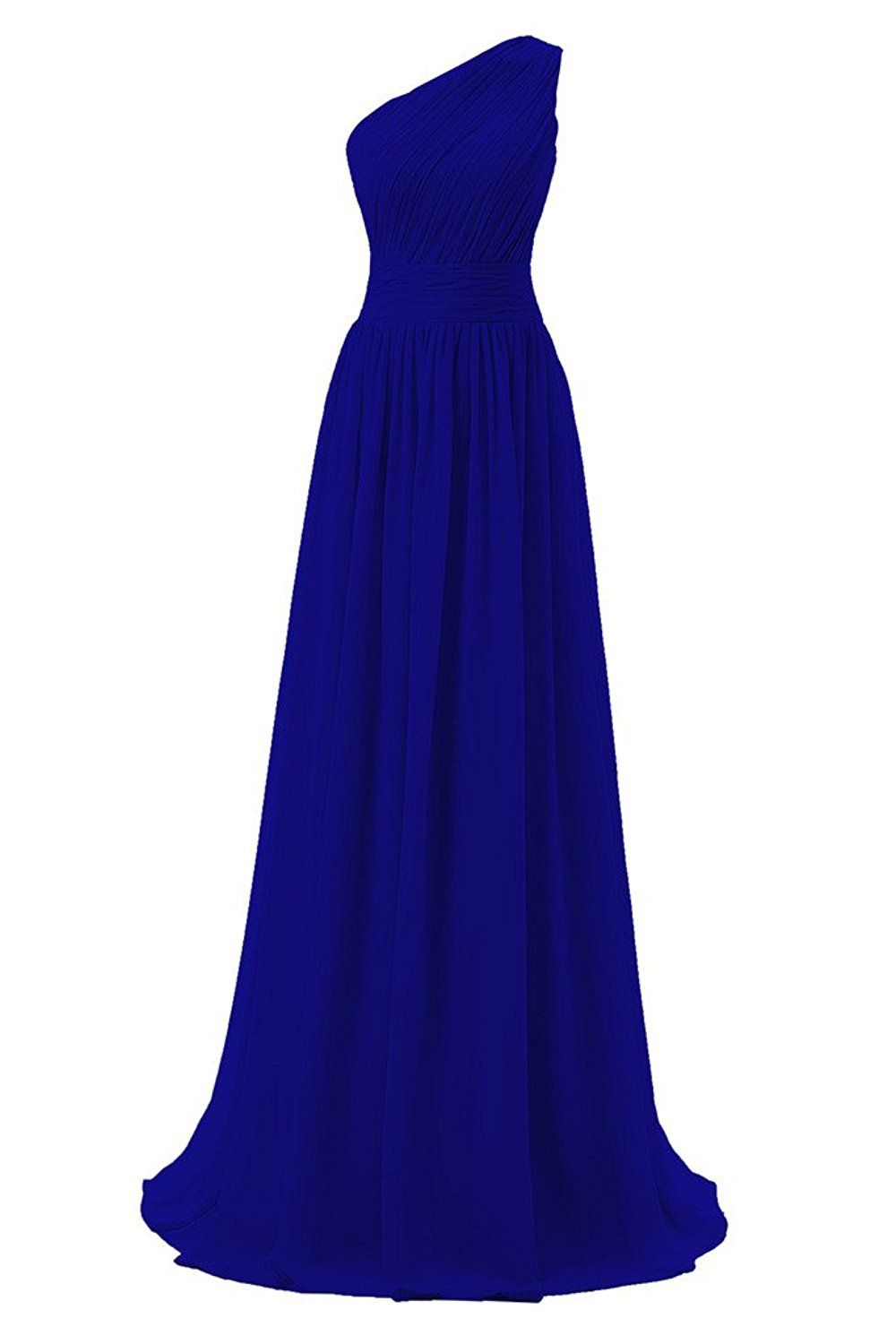 Dressever Women\'s Long One Shoulder Bridesmaid Asymmetric Prom ...