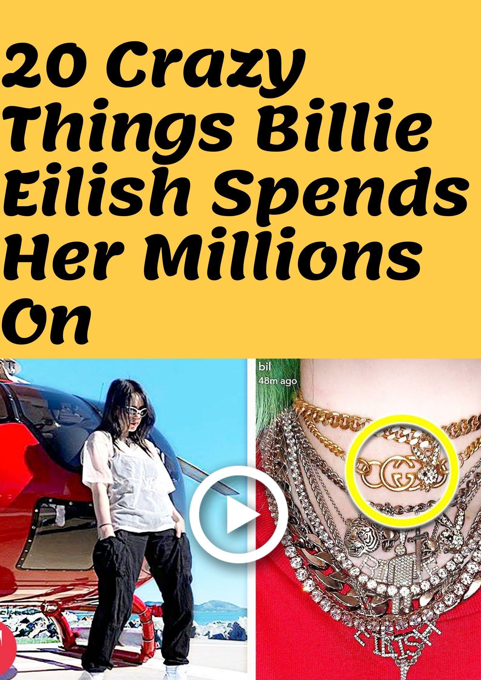 20 Crazy Things Billie Eilish Spends Her Millions On Billie Eilish Funny Cat Videos Billie