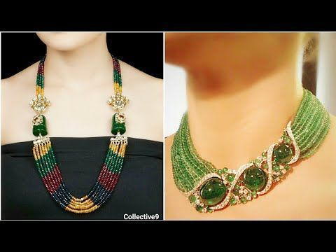 How To Make Designer Necklace At Home Party Wear Diy Beaded
