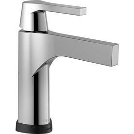 delta zura chrome 1 handle single hole 4 in centerset bathroom sink rh pinterest ca