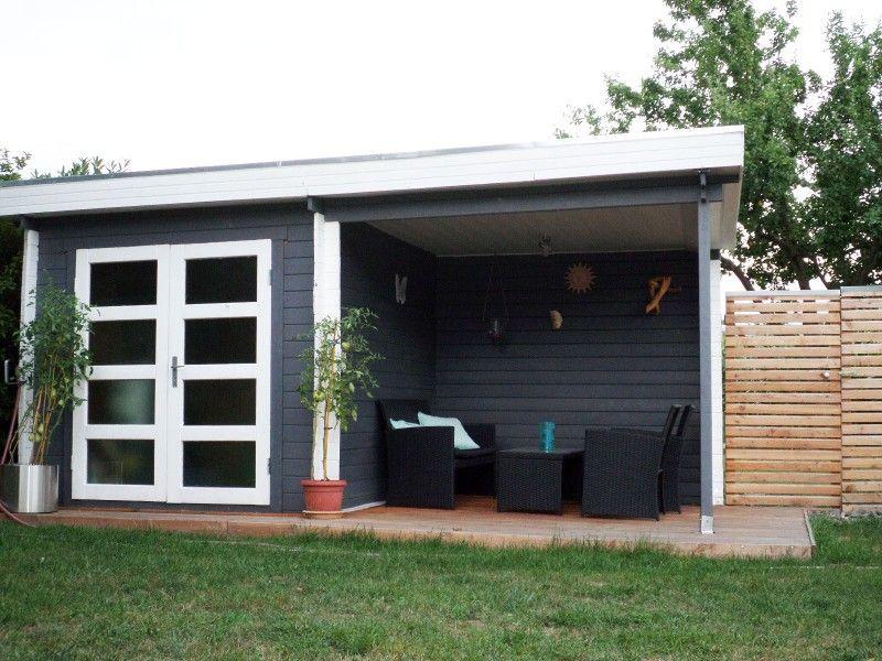 Gartenhaus modell varius 28 mit anbau a z gartenhaus for Gunstiges gartenhaus