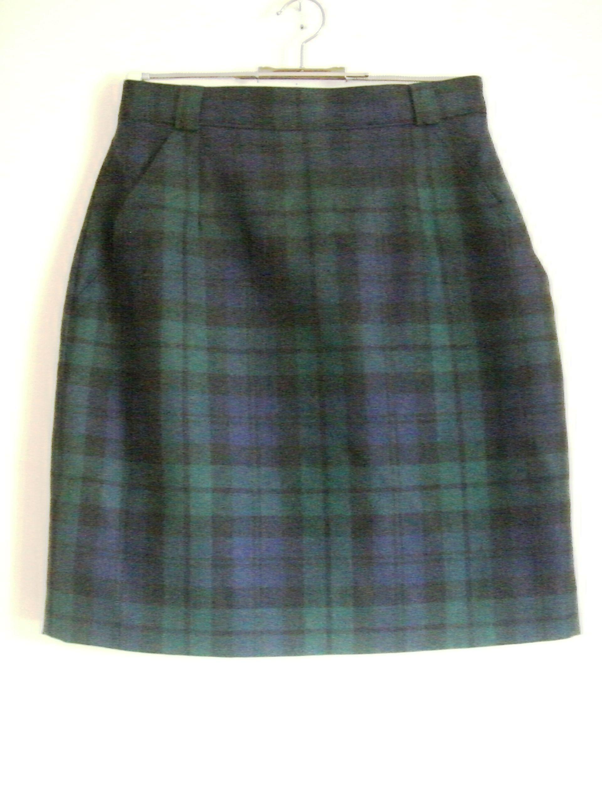 blau-grün karierter Rock mit Taschen | Kleider gehen um | Pinterest ...