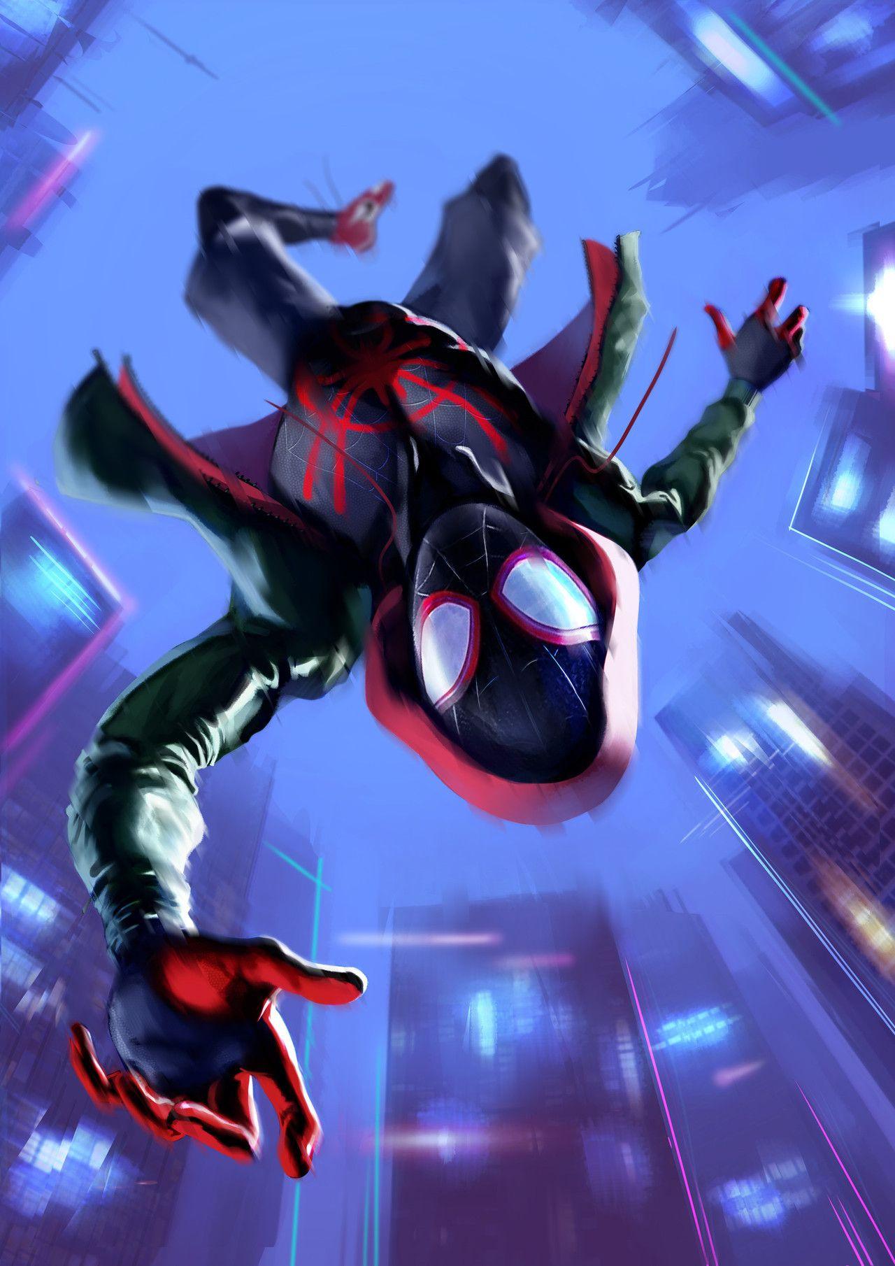 Spiderman by Daniele D'Italia Marvel spiderman, Miles