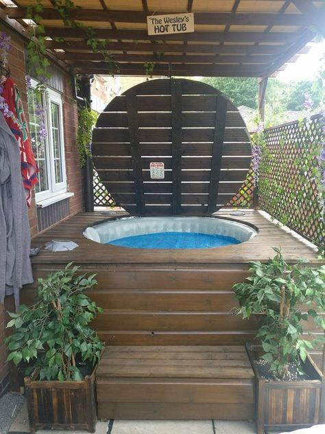 Spa Gonflable Habillage Bois Pin By George On 户外沐浴spa In 2019 | Hot Tub Backyard, Hot