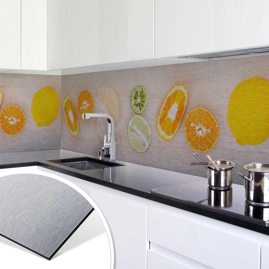 küchenrückwand - alu-dibond-silber - limonaden rezept in 2018