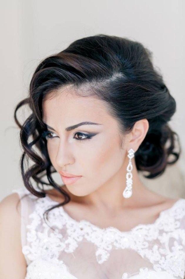 Fashion Girl Stylish Bridal Wedding Hairstyle 2014 2015 For Brides And Party Rece Wedding Hairstyles For Medium Hair Bridal Hair Wedding Hairstyles Bridesmaid