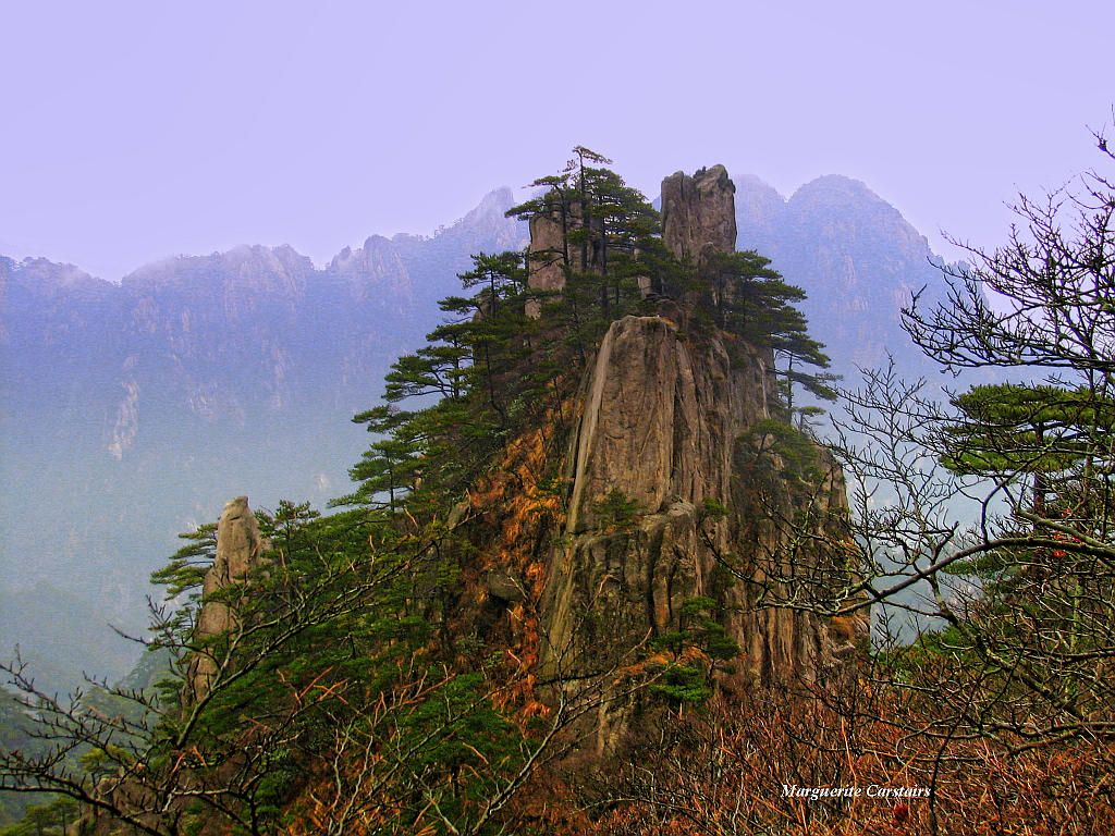 Yellow Mountain..Mt Huangshan in China.. a popular tourist mountain..this was taken in winter...it was so very cold...