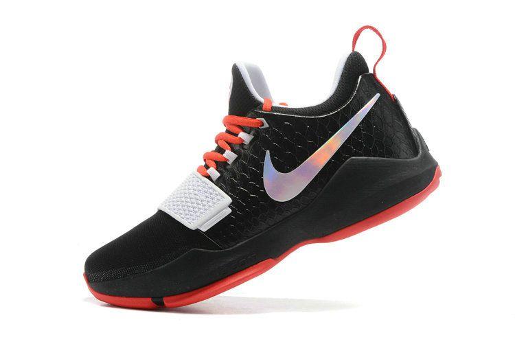 size 40 b65ae ce671 Size 10 Nike PG 1 Paul George Bred Black University Red Iridescent Swoosh