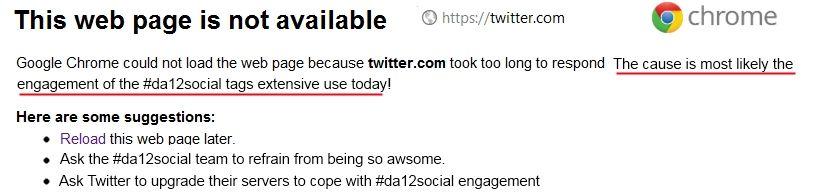 Did Da12social Cause Twitter To Crash Social Media Infographic Social Media Social Media Strategies