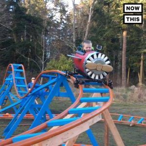 This dad built his son a homemade roller coaster in the ...