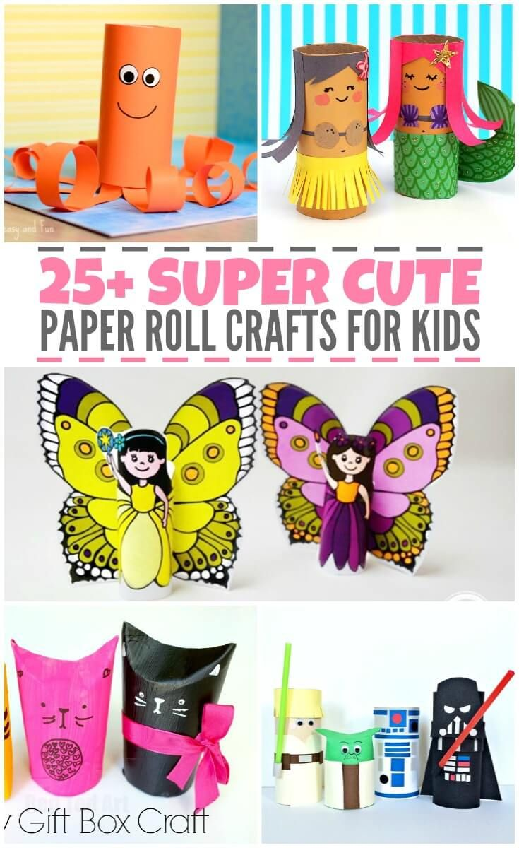 25 Super Cute Paper Roll Crafts For Kids Paper Roll Crafts