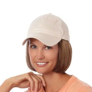 ee0c604f3e5 Short Wig - Beige cap. Hair Permanently attached to 100% cotton cap ...