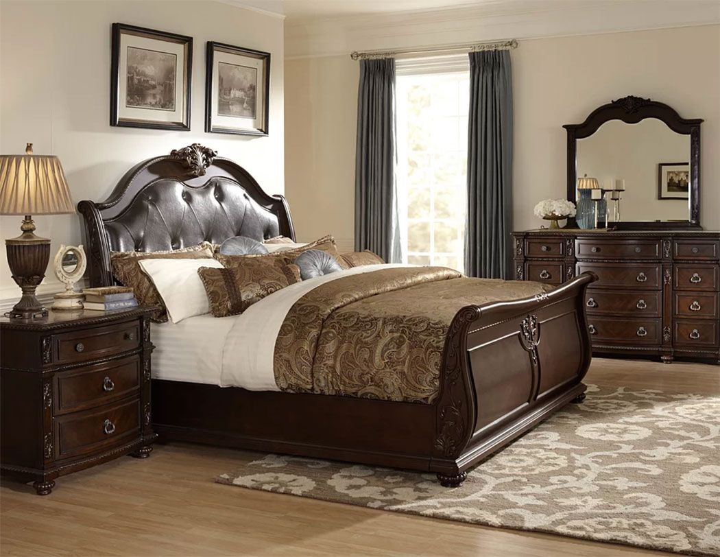 Upholstered Sleigh Beds Comfortable Elegance