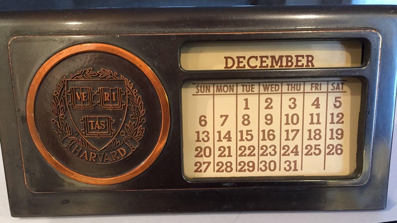 Harvard Calendar.Harvard University Desktop Perpetual Calendar Harvard Harvard