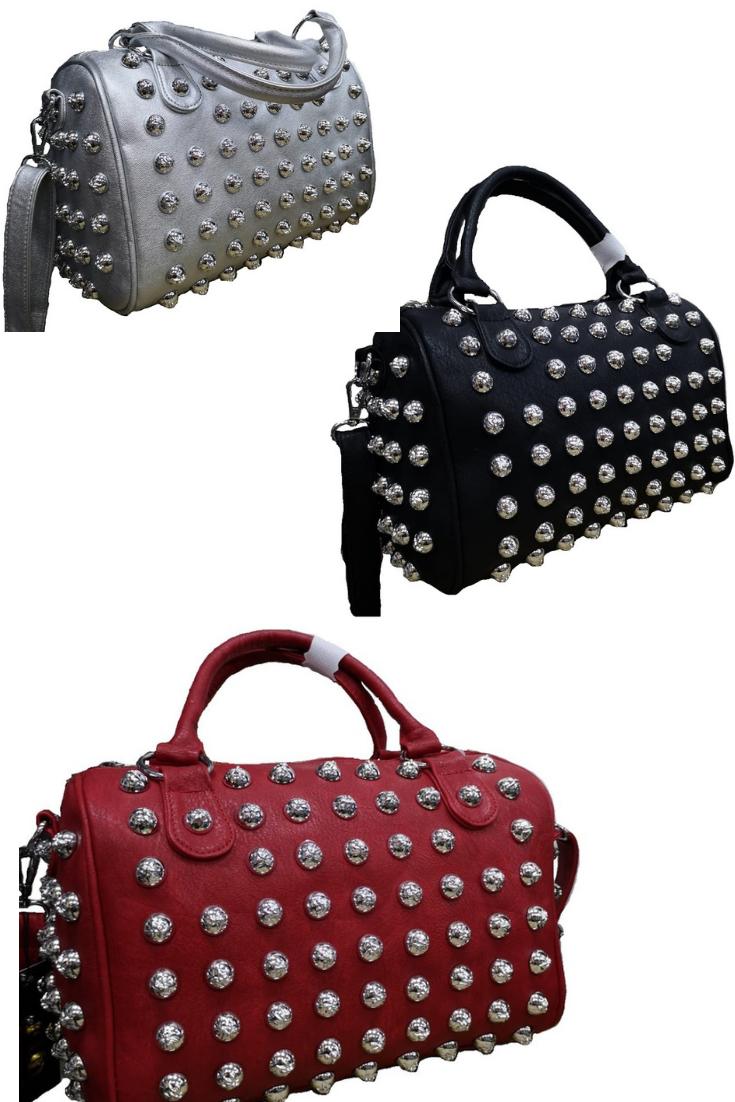 a40075b5b9 Rockige Handtasche mit Nietenoptik - neuer Online Shop Geheimtipp. Aktuelle  Accessoires + Mode günstig shoppen