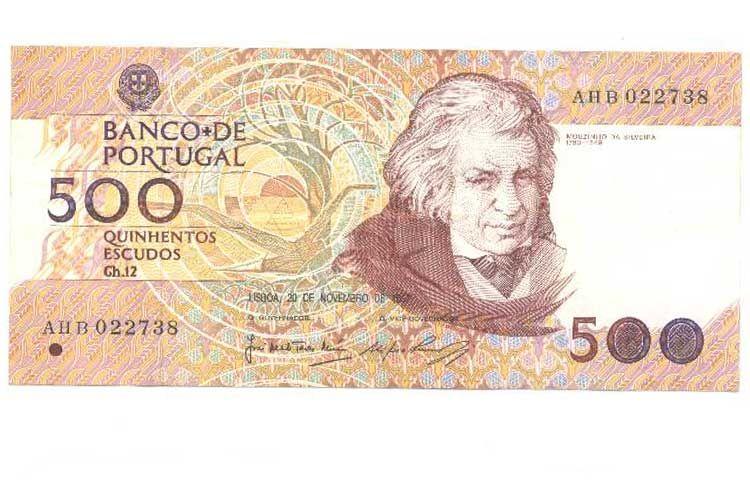 portuguese money | Portugal 500 escudos 1987 (P180a) 1st issue date GVF