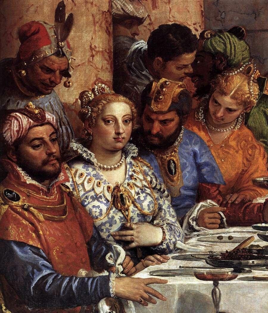 VERONESE - The Marriage at Cana (detail), 1563, Oil on canvas, Musée du Louvre, Paris