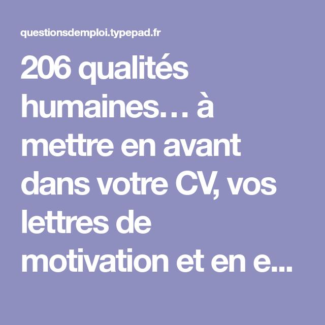 6 Lettre De Motivation Chef De Projet Marketing: 206 Qualités Humaines… à Mettre En Avant Dans Votre CV