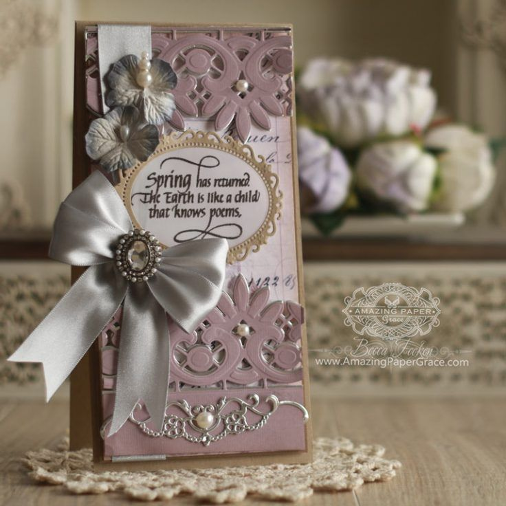 Lace Card Making Ideas Part - 38: Card Making Ideas By Becca Feeken Using Spellbinders Graceful Floral Lace  And Quietfire Design - Spring