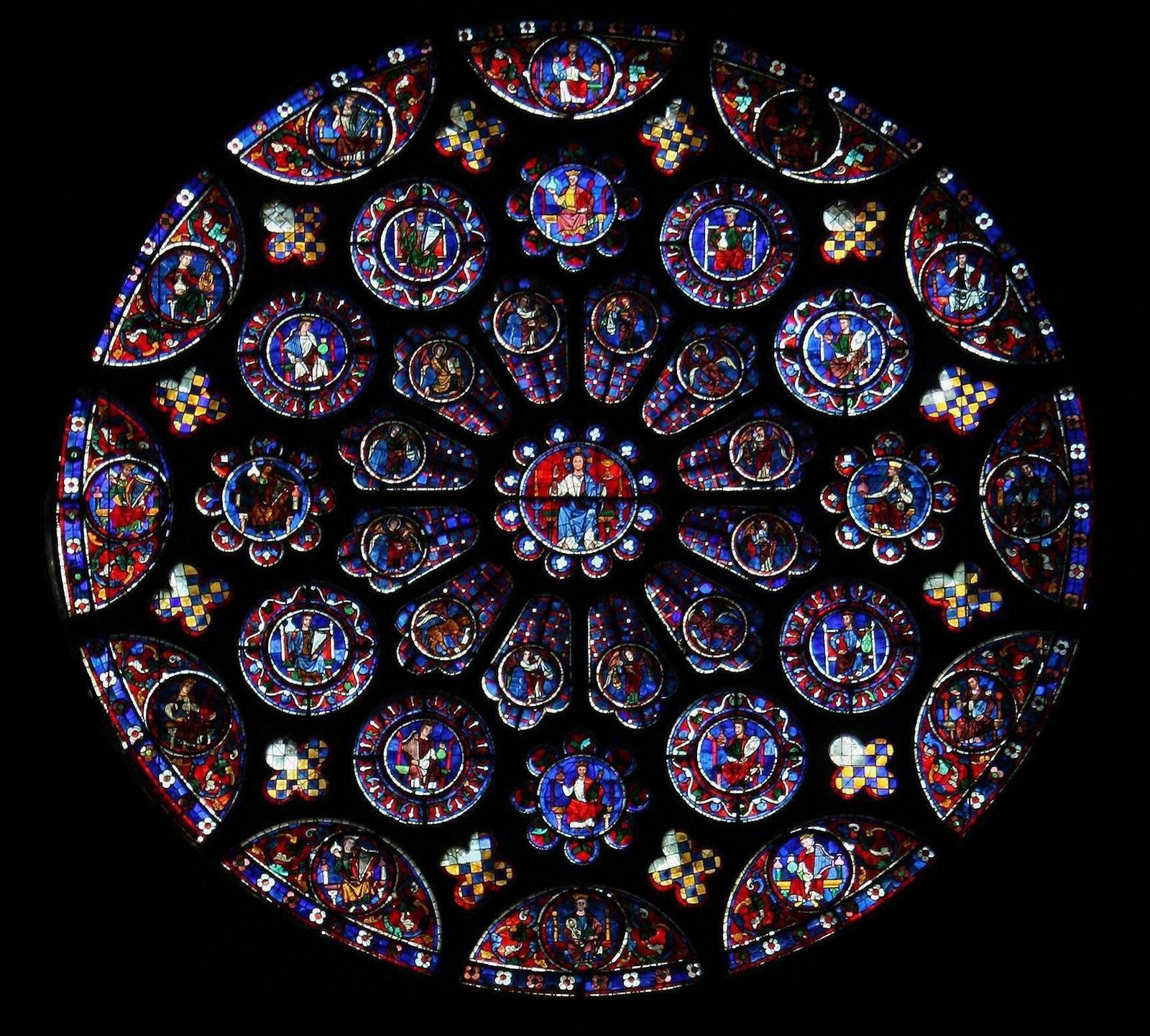 The Trinity: Chartres Cathedral, The South Rose Window and Lancet