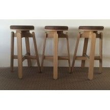 Soca Thierry D Istria Tabouret Frizz Marron Collector Chic