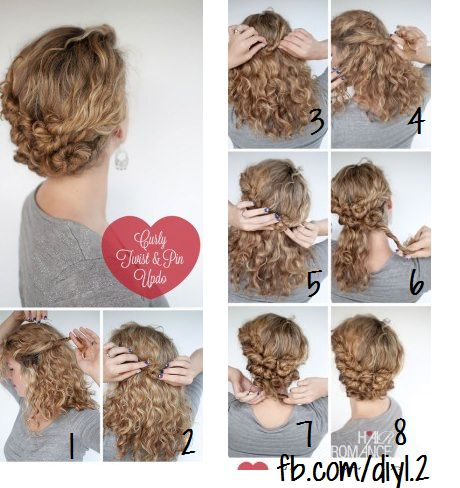 Hairstyle Tutorial Easy Twist And Pin Updo For Curly Hair Hair Romance Curly Hair Styles Naturally Curly Hair Styles Curly Hair Inspiration