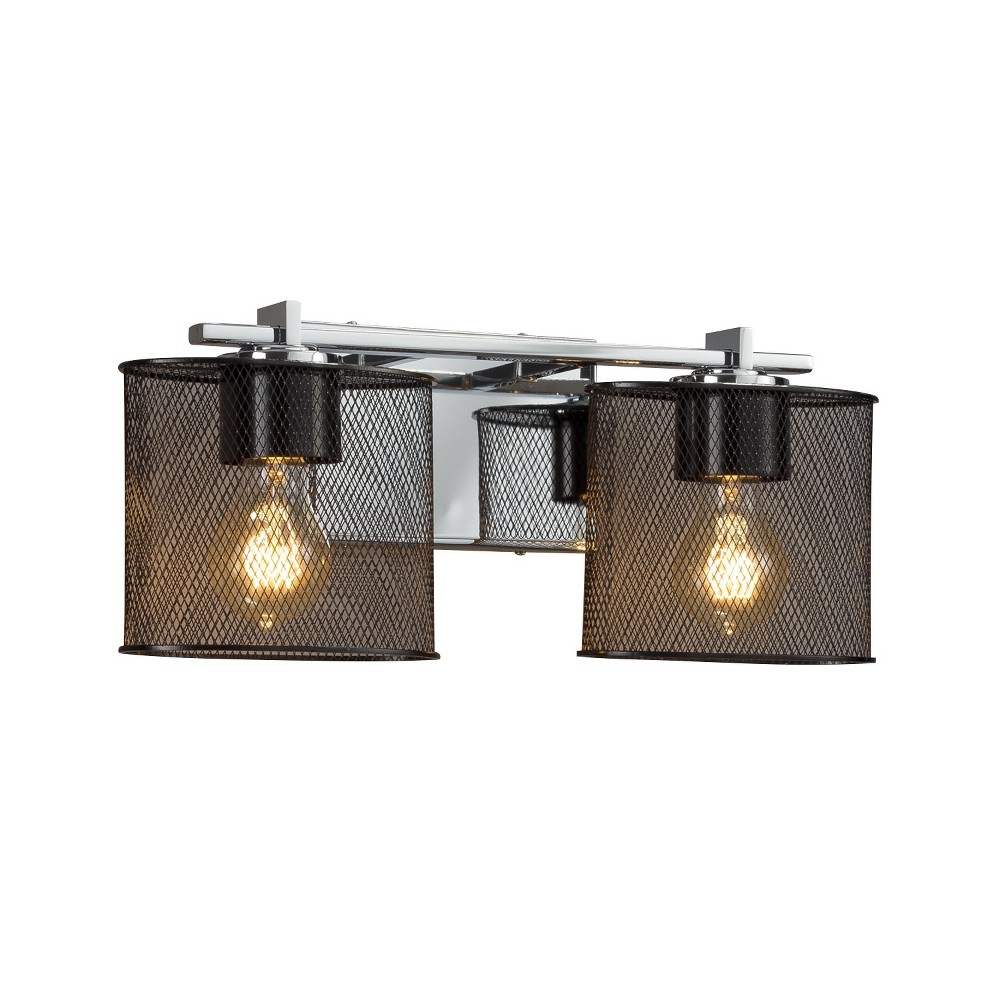 Justice Design Group Msh 8442 30 Wire Mesh 2 Light 16 1 2 Wide