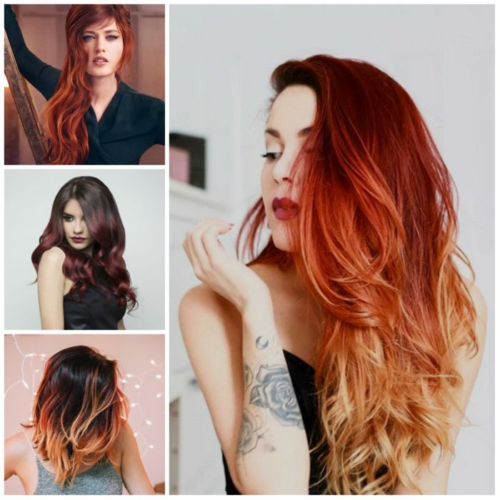 ombre haare rot kupfer dunkelblond farbverlauf ombr hair pinterest ombre blond and balayage. Black Bedroom Furniture Sets. Home Design Ideas