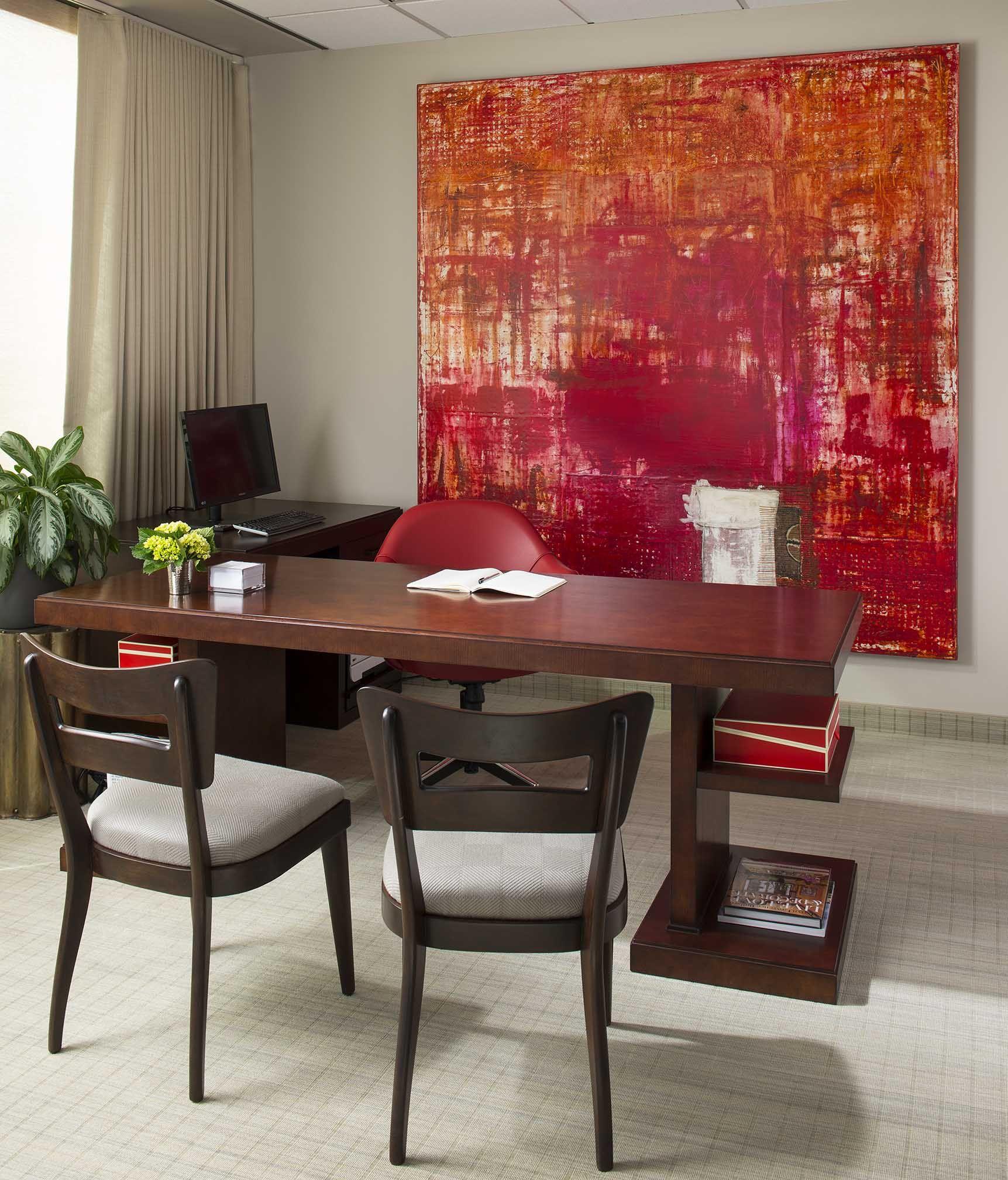 Color art office interiors - Colour