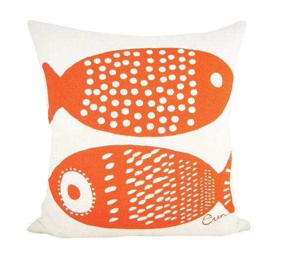 Double Tuna 20in Pillow in Mango
