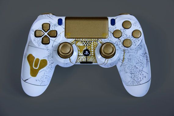 Custom Destiny Playstation 4 Controller Or By Devidedpursuits Consolas Videojuegos Mando Ps4 Video Juego