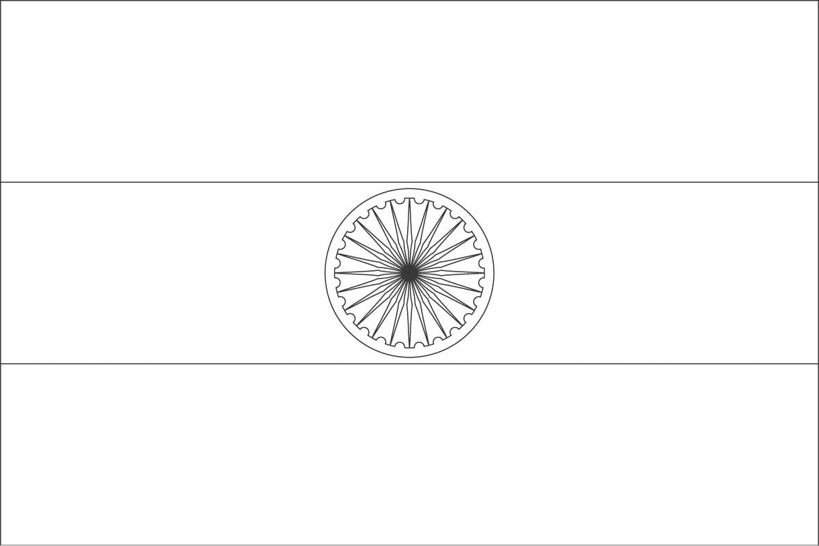 India Flag Coloring Page Sonlight Core C Window On The World