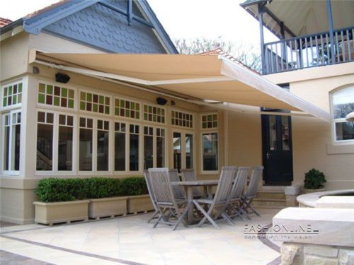 Outdoor Motorised Folding Arm Awning Sun Shade 3m 4m 6m X 2 5m Retractable Awning House Awnings House Outside Design