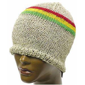 7b214ba2de6 Hemp Beanie CAP HAT Organic Africa JAH Rasta Reggae BOB Jamaica Surfer S M  FIT