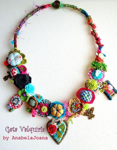 Pin de Meiry Marinho Luz en Feltro Pinterest Collares, Collar de