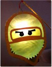 Eine Ninja Laterne für den Sohn und eine Vorlage für euch