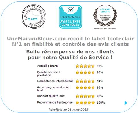 Avis Clients Contrôlés Chez UneMaisonBleue ! Agence