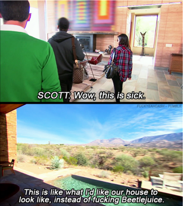When Scott was fed up of Kourtney's taste in interior design. | 21 Times Scott And Kourtney Were Savage AF