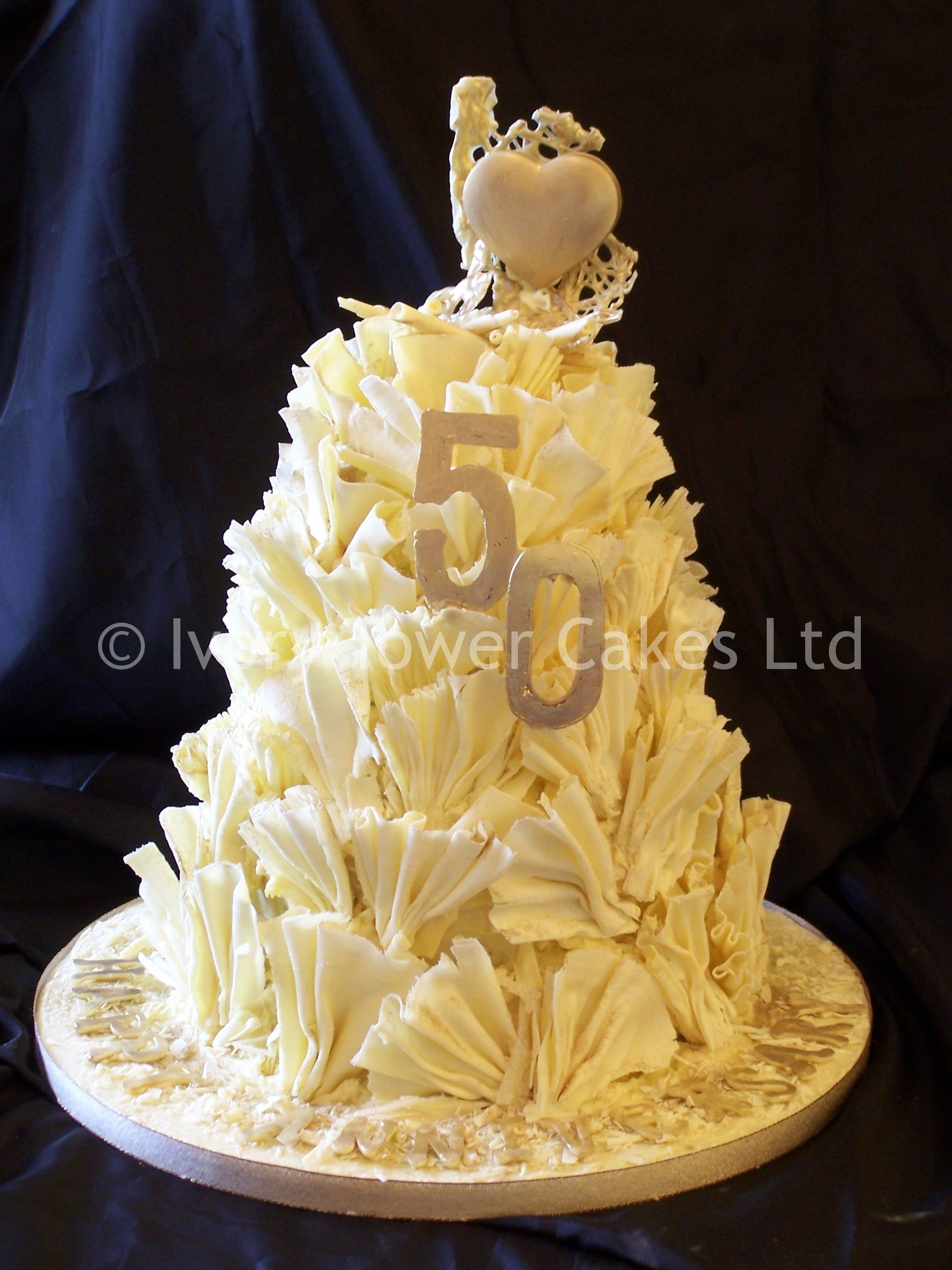 3 Tier Belgian Chocolate 50th Wedding Anniversary Cake By Ivory
