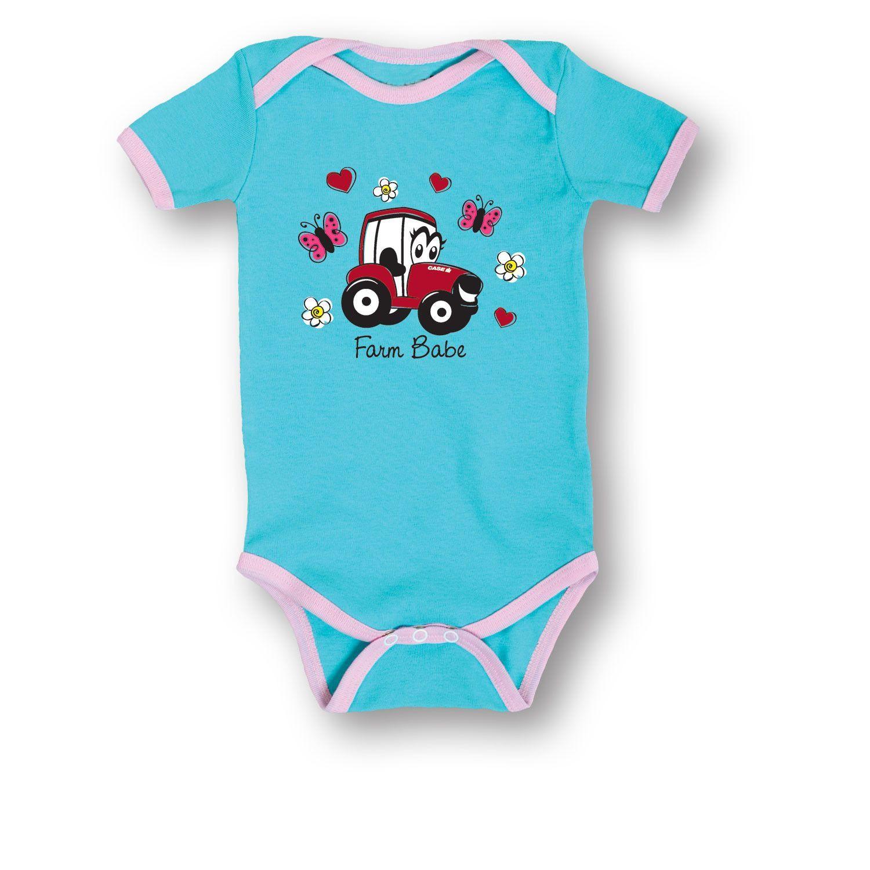 10e2d6793 Case IH Farm Baby Aqua Pink Infant One Piece Product Details - 5.0 ...