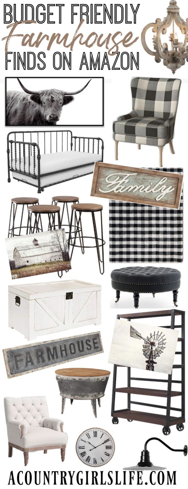 Best BUDGET Farmhouse Interior Design Finds on Amazon!