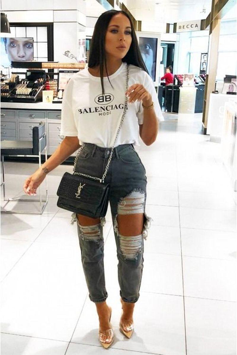 Photo of 34 casual sommer antrekk for kvinner med jeans bukse